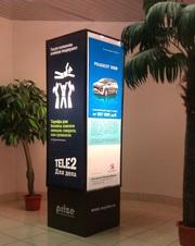 Indoor реклама в торговых и бизнес центрах Томска