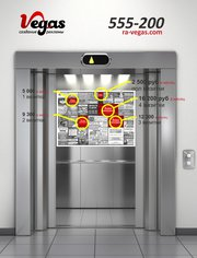 Реклама в лифтах Череповец